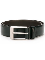 Canali Square Buckle Belt Green