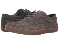 Hush Puppies Teague Roadcrew Grey Suede Gum Men's Lace Up Casual Shoes Brown