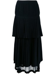 Stella Mccartney Draped Pleated Skirt Black