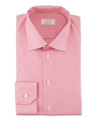 Eton Contemporary Fit Micro Check Dress Shirt Pink