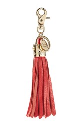 See By Chloe Vicky Leather Tassel Keychain Red