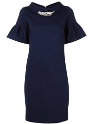 Blugirl Ruffle Sleeve Dress Blue