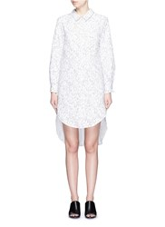 Chictopia Floral Guipure Lace Shirt Dress White