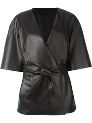 Drome Belted Wrap Jacket Black