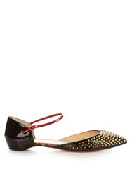 Christian Louboutin Baiea Spike Patent Leather Flats Black Multi