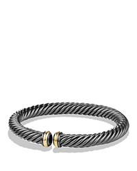 David Yurman Cable Spira Bracelet With 18K Gold Black Gold