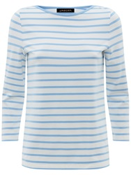 Jaeger Breton Striped Top Bluebell