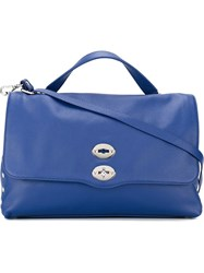 Zanellato Oversized Shoulder Bag Blue