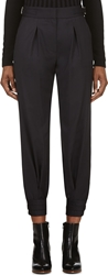 Band Of Outsiders Navy Lightweight Wool Cuffed Trousers