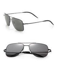 Oliver Peoples Clifton 58Mm Square Aviator Sunglasses Graphite