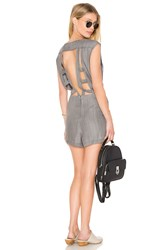Rvca Easier Said Romper Gray