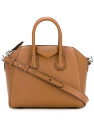 Givenchy Mini 'Antigona' Tote Brown