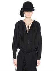 Lanvin Viscose And Silk Crepe Sable Shirt