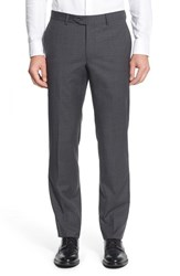 Nordstrom Men's Men's Shop Flat Front Check Wool Trousers