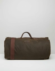 Barbour Wax Holdall In Olive Olive Green