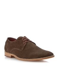 Linea Bogart Heavy Rand Casual Lace Up Gibson Shoes Brown