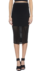 Alexander Wang Circular Knit Pencil Skirt