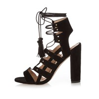 River Island Womens Black Gladiator Heels