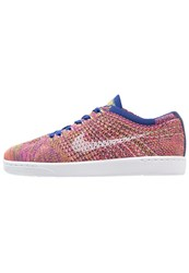 Nike Sportswear Tennis Classic Ultra Flyknit Trainers Deep Royal Blue White Pink Blast Gold Leaf