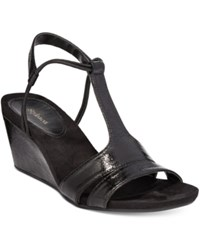 Styleandco. Style Co. Mitzee Stretch Wedge Sandals Only At Macy's Women's Shoes Black