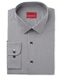 Alfani Red Men's Fitted Charcoal Mini Check Dress Shirt Only At Macy's