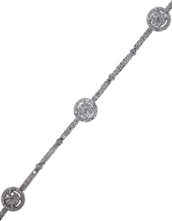 Effy Diamond And 14K White Gold Tennis Bracelet 1.10 Tcw