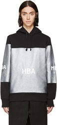 Hood By Air Ssense Exclusive Black And Silver Glitter Hoodie