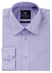 Skopes Easy Care Regular Fit Long Sleeve Shirt Lilac
