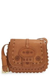 Big Buddha Embroidered Western Crossbody Bag Brown Tan
