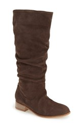 Women's Charles By Charles David 'Joan' Tall Boot Dark Brown Suede