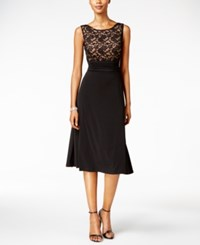 Connected Lace A Line Dress Black Gold