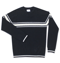 Norse Projects Karl Slub Cotton Stripe Jumper Dark Navy Huh. Store