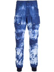 Prps Dyed Cargo Trousers Blue