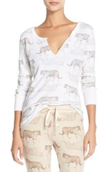 Women's All Things Fabulous 'Tiger' Thermal Henley Sleep Shirt