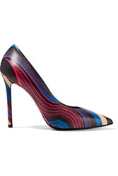 Emilio Pucci Printed Leather Pumps Multi