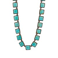 Nak Armstrong Women's Turquoise Mosaic Necklace No Color