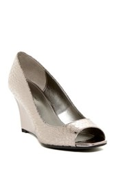 Bandolino Jamila Peep Toe Wedge Gray