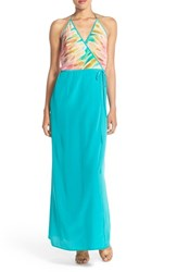 Women's Charlie Jade Halter Print Silk Maxi Dress