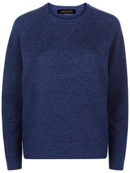Jaeger Crew Neck Wool Jumper Denim