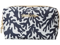 Lilly Pulitzer Pb Cosmetic Case Large Bright Navy Treasure Cosmetic Case Blue