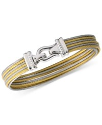 Charriol Women's Brilliant Two Tone Pvd Stainless Steel Cable Bangle Bracelet 04 821 1214 0L Two Tone