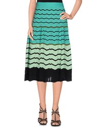 M Missoni Skirts 3 4 Length Skirts Women Emerald Green