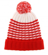Gucci Striped Wool Hat Red