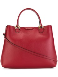 Emporio Armani Double Handles Medium Tote Red