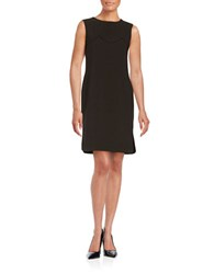 424 Fifth Scalloped Shift Dress Black