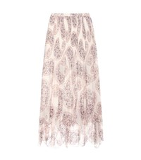 See By Chloe Printed Plisse Skirt Multicoloured