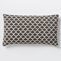 Scalloped Crewel Pillow Cover Slate West Elm