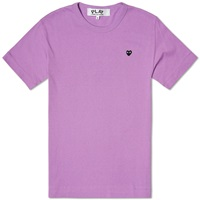 Comme Des Garcons Play Colour Series Little Black Heart Tee Purple