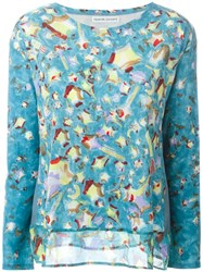 Tsumori Chisato Printed Fine Knit Sweater Blue