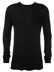Poeme Bohemien Round Neck Jumper Black